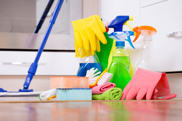 "<img src=""Cleaning Products"" alt=""Cleaning Supplies to Leave your home Clean"" />"