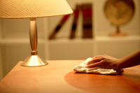 "<img src=""Polishing a Night Stand"" alt=""Cleaner Polishing a Wood Night Stand"" />"
